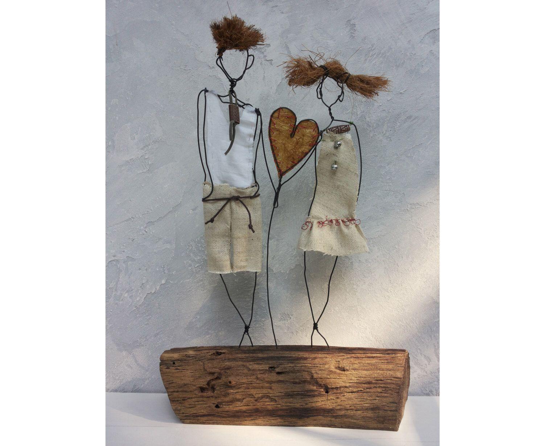 Skulptur, Hochzeitsgeschenk, Kunstobjekte, Figur Skulptur Treibholz ...
