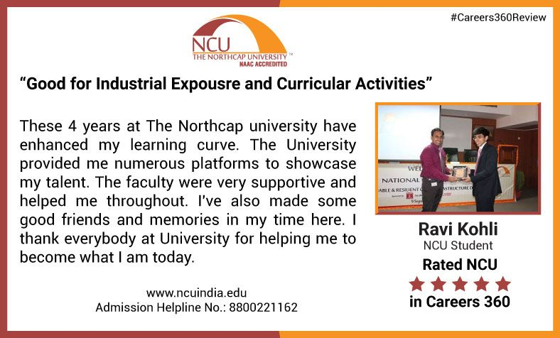 Check out what Ravi Kohli, NCU student has said about his journey at