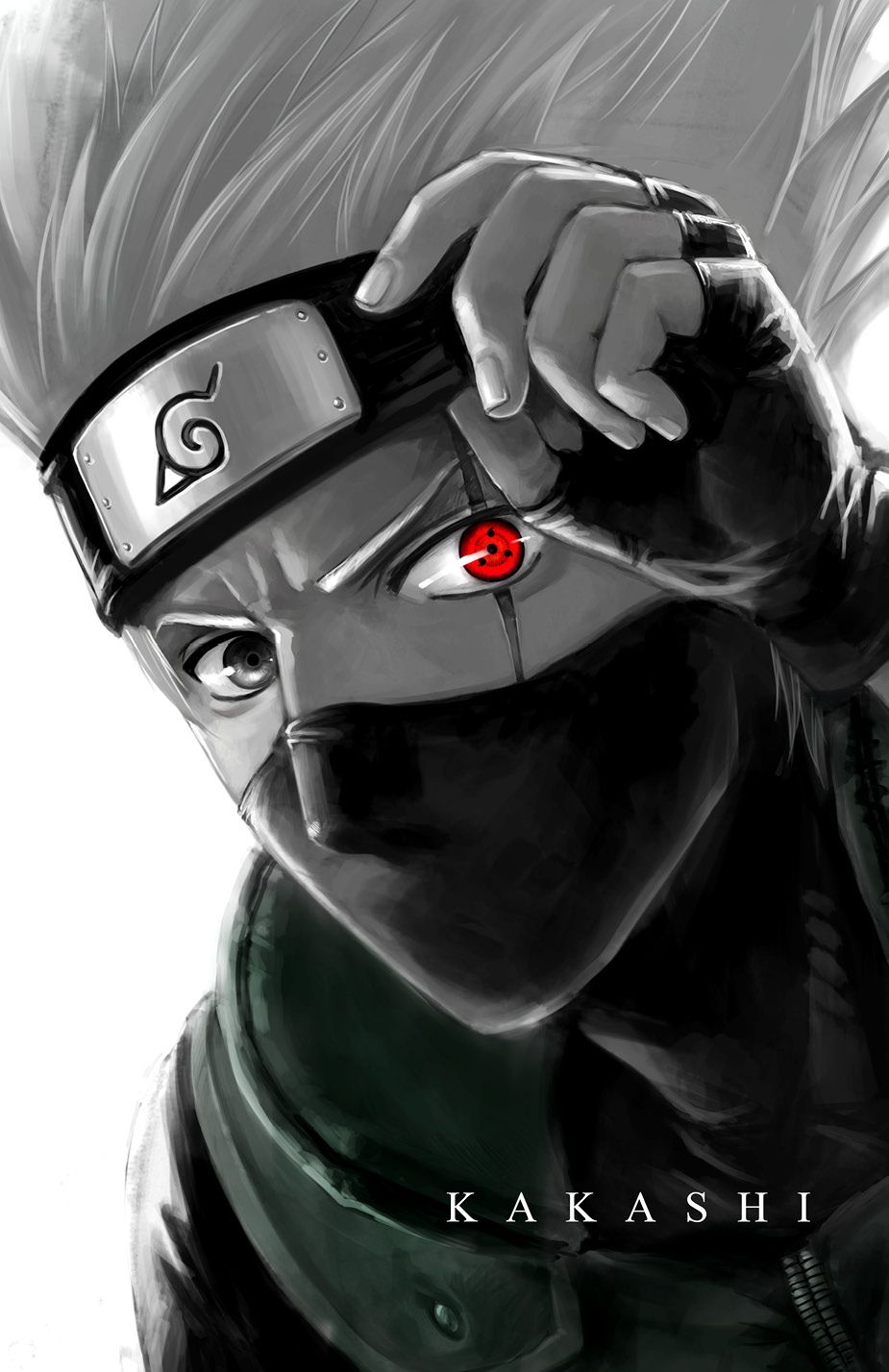 """Sharingan Eye Kakashi"" by morbidprince. 