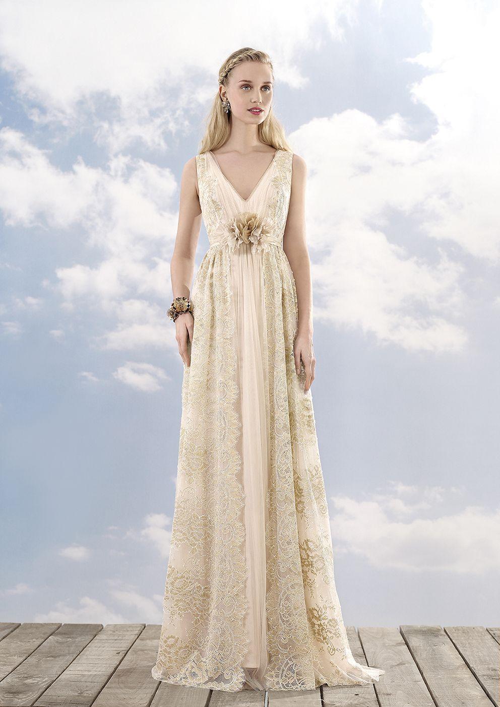 Zappa - REmbo Styling _ Vestido de novia de encaje oro y rosa. Ideal ...