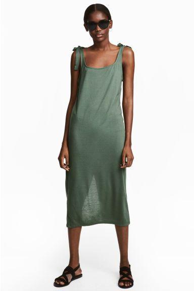 Photo of Kjolelang jerseykjole – Khaki grønn – Damer | H&M USA