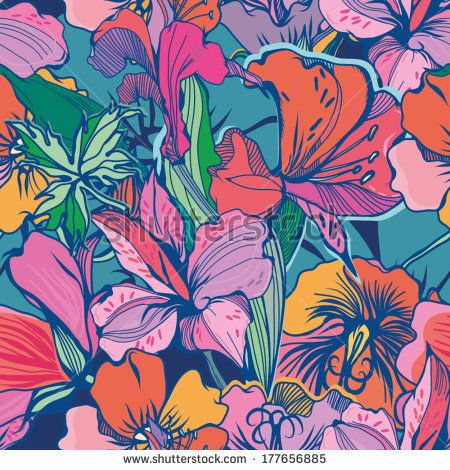 Flower pattern background free vector download (56,009 Free