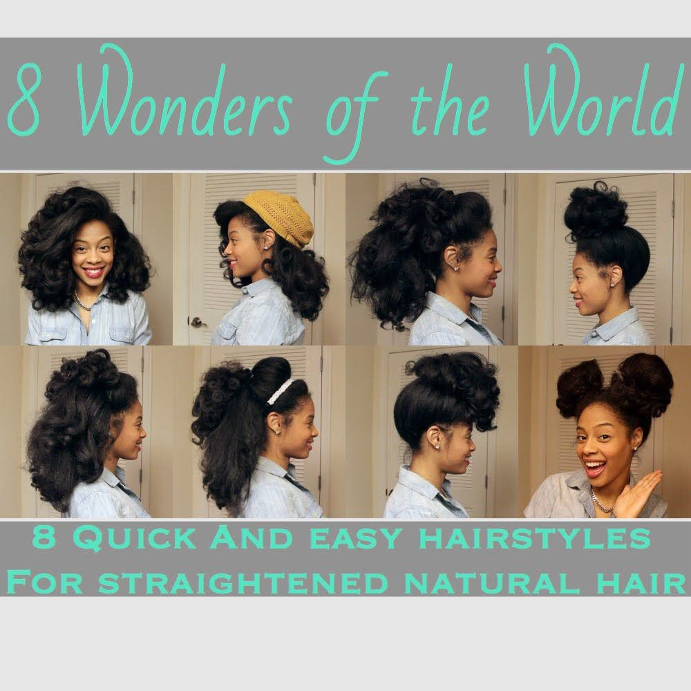 8 Everyday Inspiring Natural Hairstyles For Straight Black Hair Natural Hair Styles Hair Styles Natural Hair Styles Easy