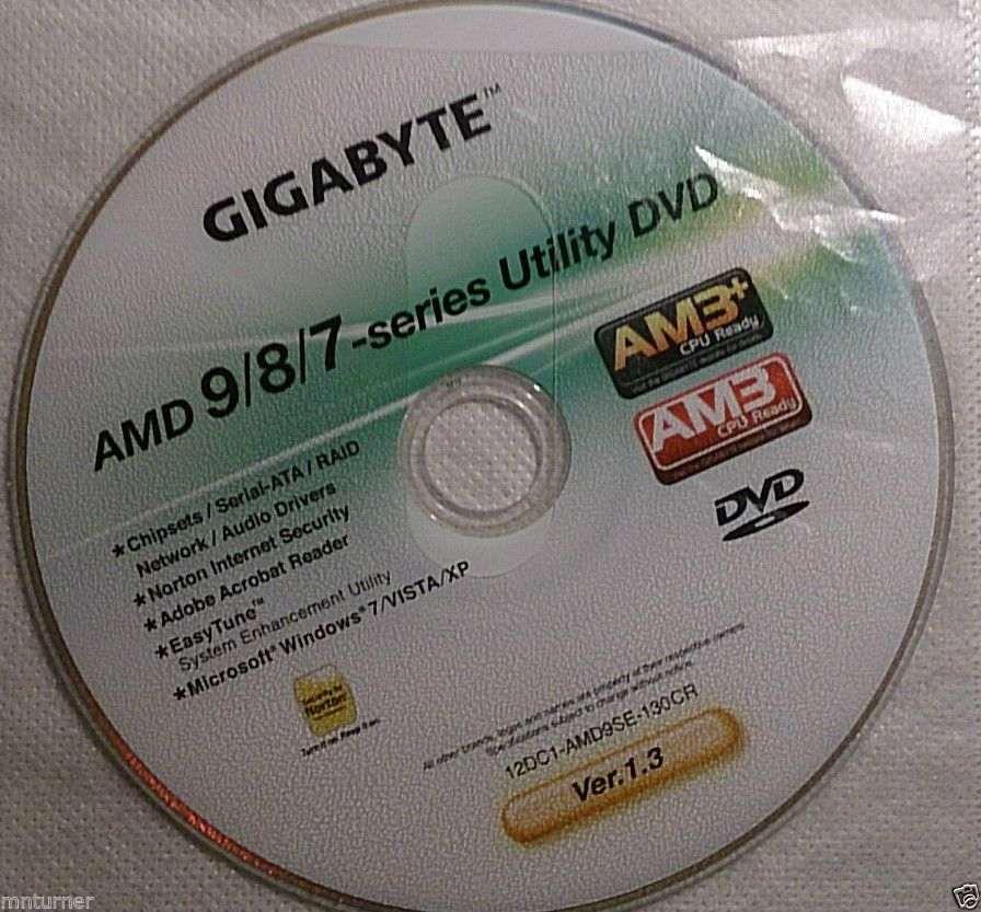 Gigabyte AMD 9/8/7 Series Motherboard Utilities Installation