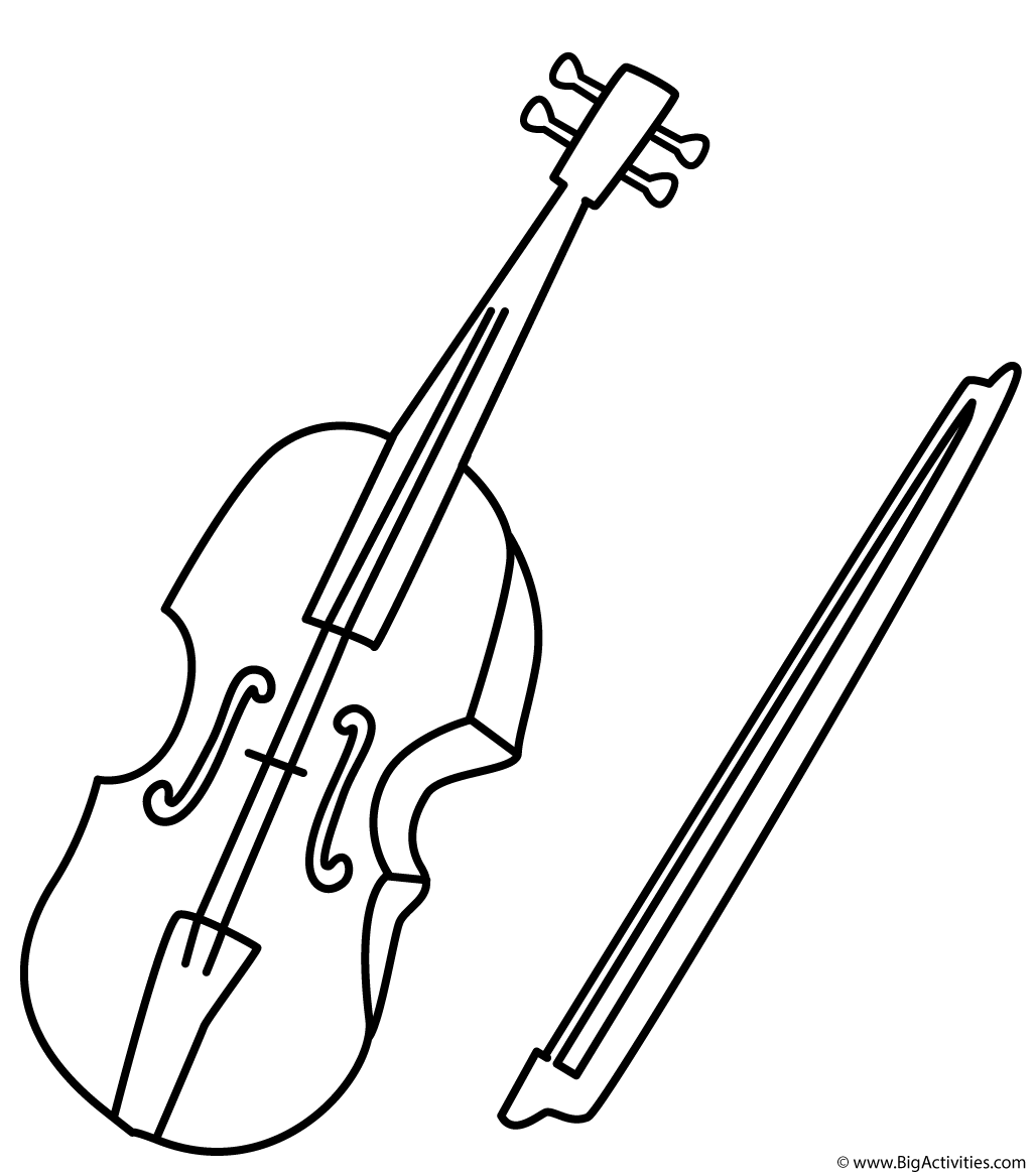 Image result for violin coloring pages  Coloring pages, Violin