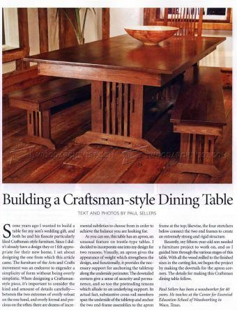 1919 Craftsman Style Dining Table Plans Furniture