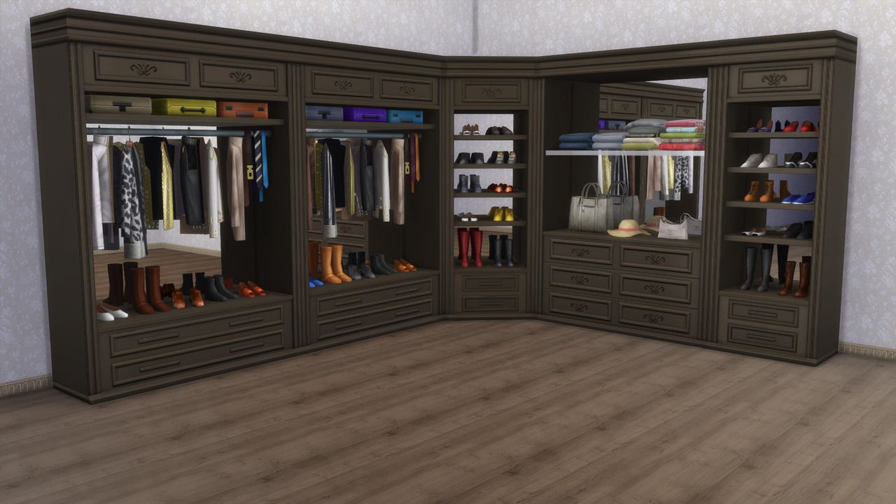 Walk in Closets From Get Famous [ts4_bb] [ts4_bb_bedroom