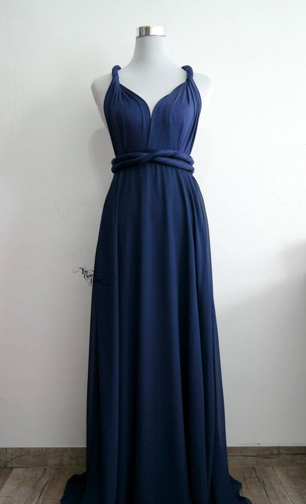 The Infinity Gown in Navy | My wedding ideas... | Pinterest | Indigo ...