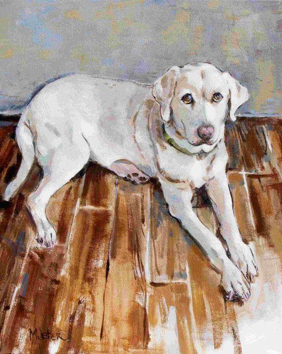 Dog Portrait acrylic painting 'Charlie' by maryjeterART on Etsy, $240.00