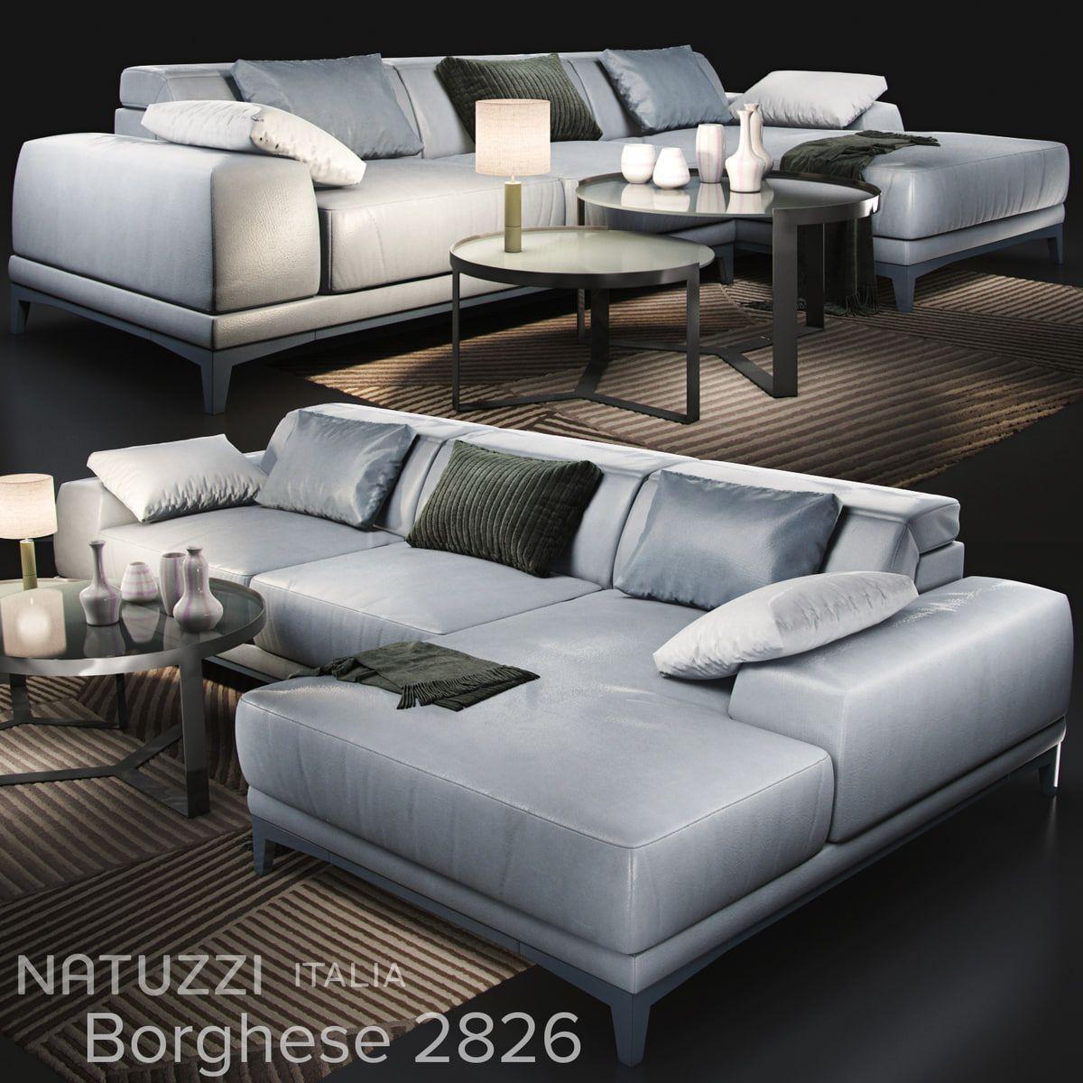 Sofa Natuzzi Borghese 2826 3d Model 3d Model Sofa Living Room Decor Modern Natuzzi