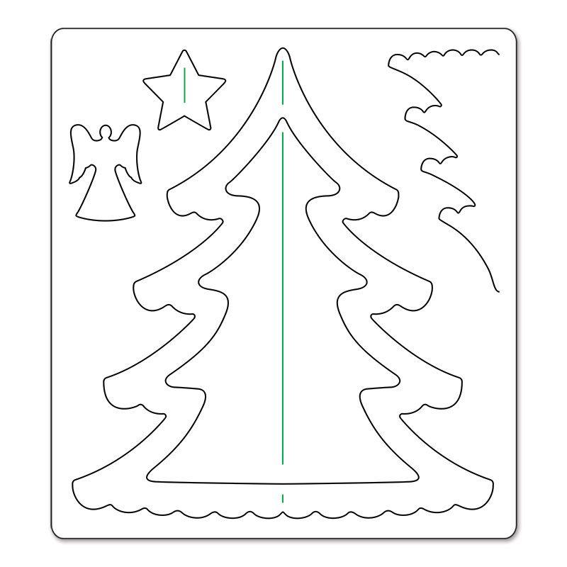 Sizzix bigz die christmas tree 3d weihnachten pinterest weihnachten und winterdeko - Herbstblatter deko ...
