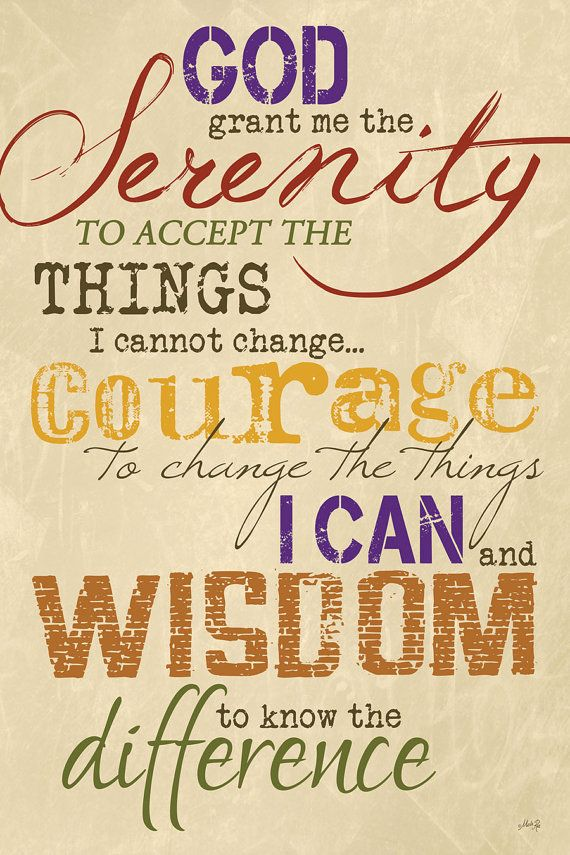 Serenity+Prayer+Wall+Art+Decor | ... serenity to accept the things ...