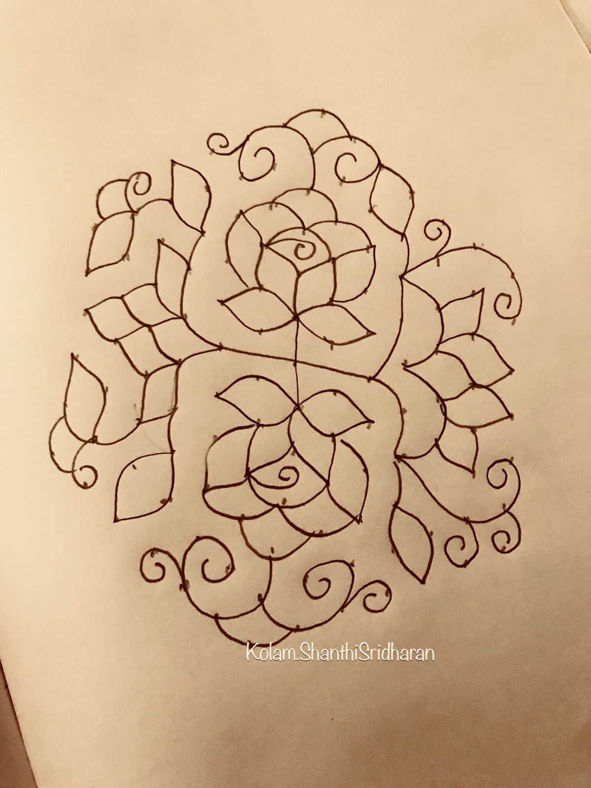 Pin by ShanthiSridharan.SIMPLEKOLAM on Rose Kolams