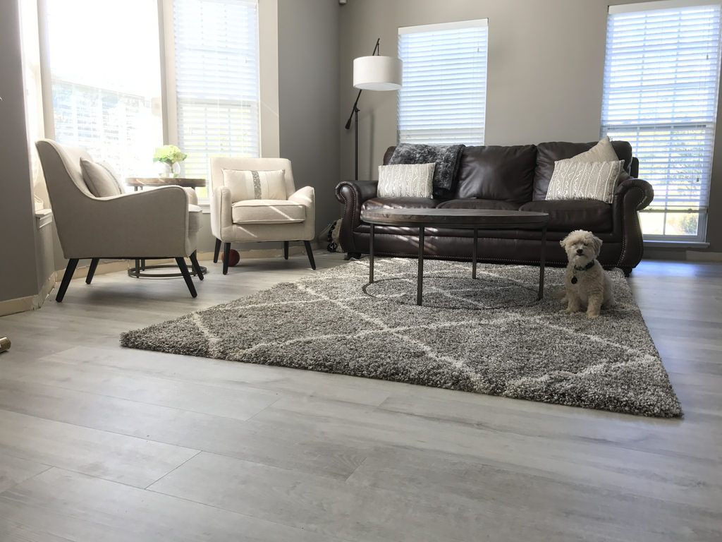 Luxury Vinyl Flooring White Aspen Wide+ Click Cali