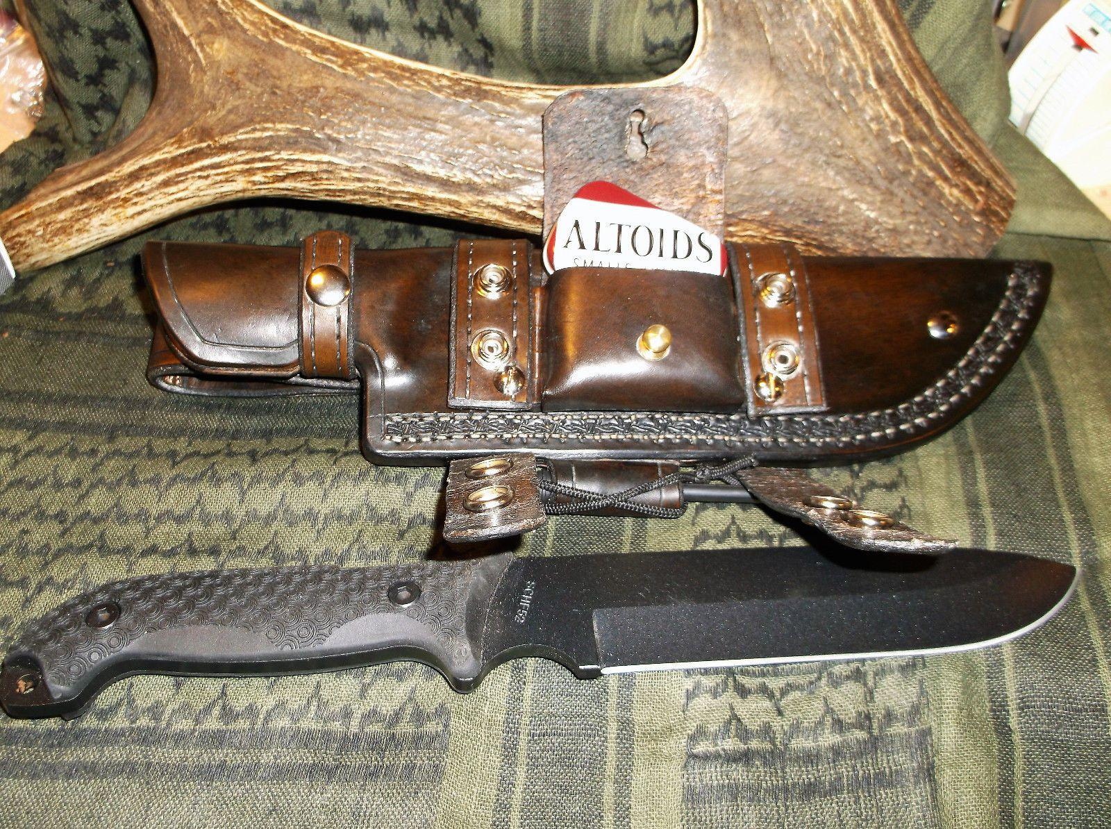Schrade Schf52 13 Full Tang 1095 Hcs W Custom Made Leather Survival Sheath R L Ebay Leather High Carbon Steel Ebay
