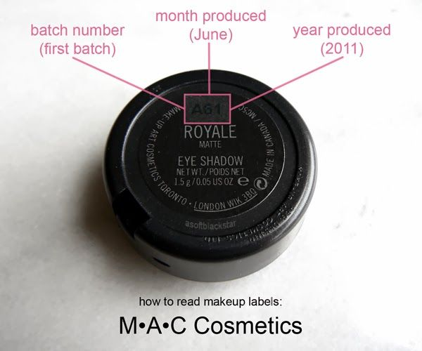 How to read the batch code number on MAC Cosmetics products | Beauty