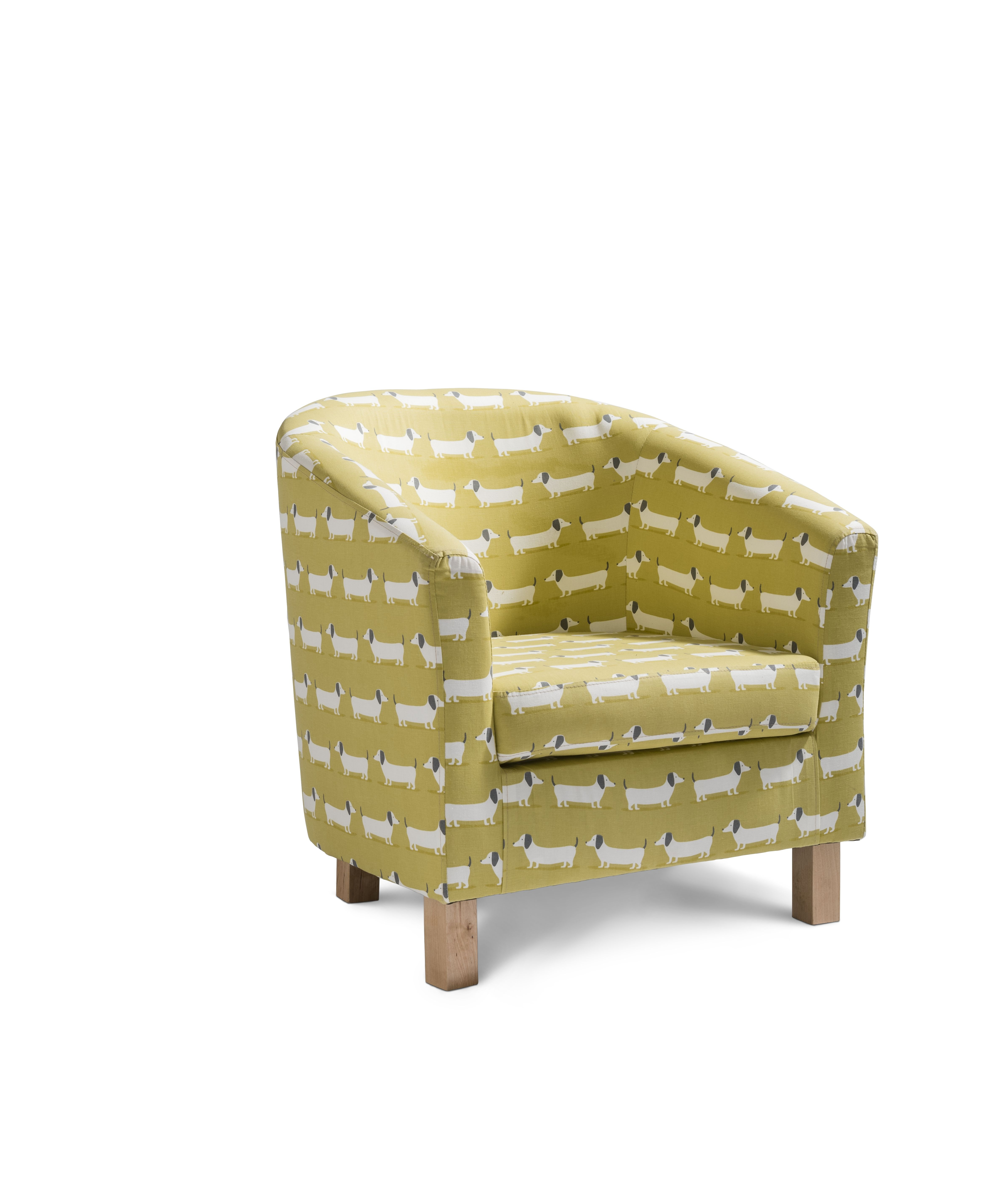 The Egypt Tub Accent Chair In The Hound Dog Pattern Is An Adorable Way To  Add