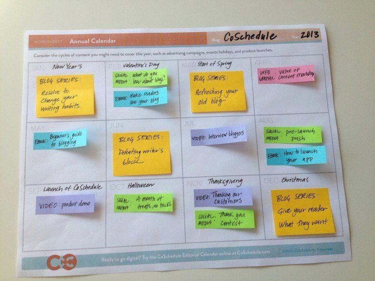Annual Marketing Calendar Template Awesome A Free Blog ...