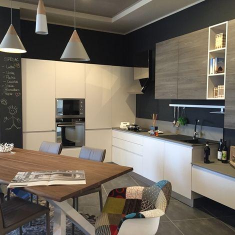 Cucina Flo di Ar-tre con basi in laccato opaco colore ghiaccio e ...
