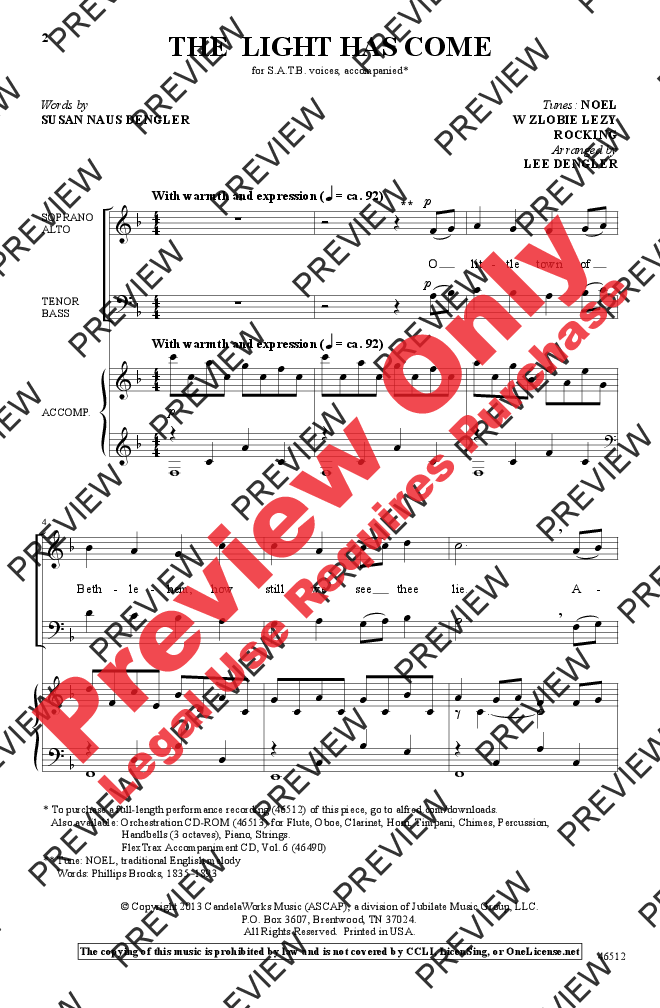 Christmas The Light Has Come Satb Arr Lee Dengler J W Pepper Sheet Music A Gentle Christmas Anthem Is Desired This War With Images Sheet Music Choral Music Choral