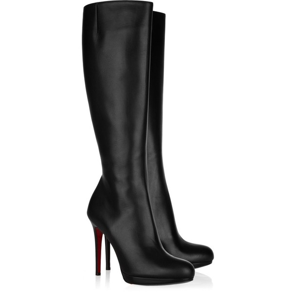 5ac500dbc87 Christian Louboutin New Simple Botta 120 leather knee boots ❤ liked ...