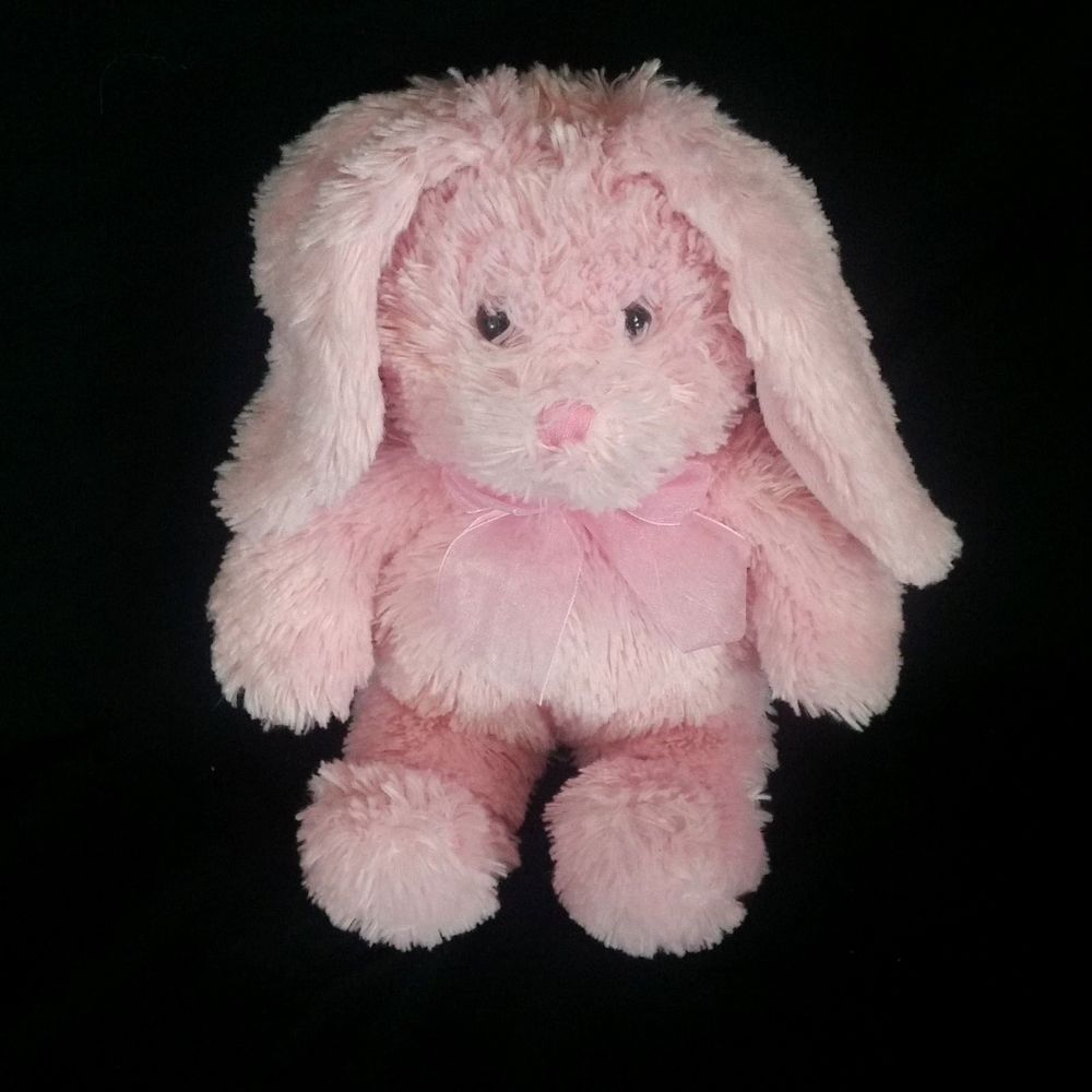 Bunny rabbit pink plush commonwealth stuffed animal lovey easter bow