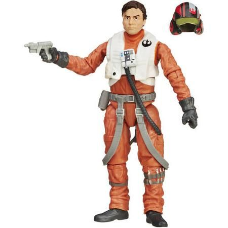 "Hasbro Star Wars POE DAMERON X-WING Head Black For 3.75/"" Inch Action Figure"
