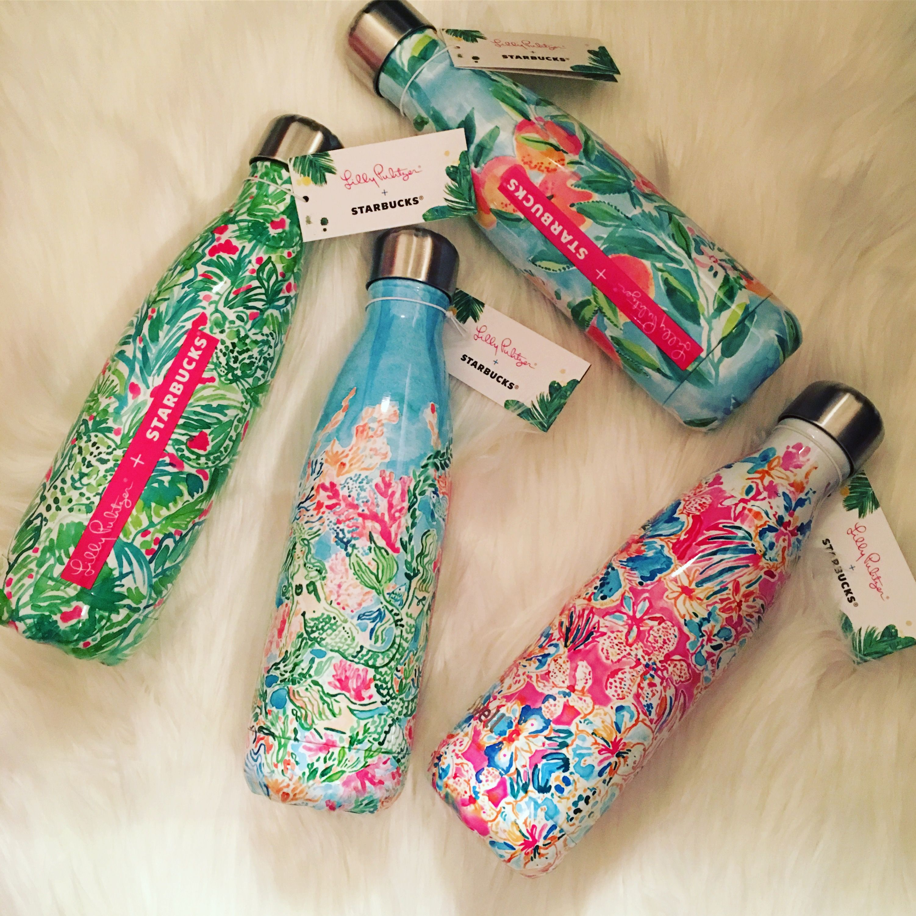 Lilly Pulitzer Starbucks Swell Bottles Complete Set It