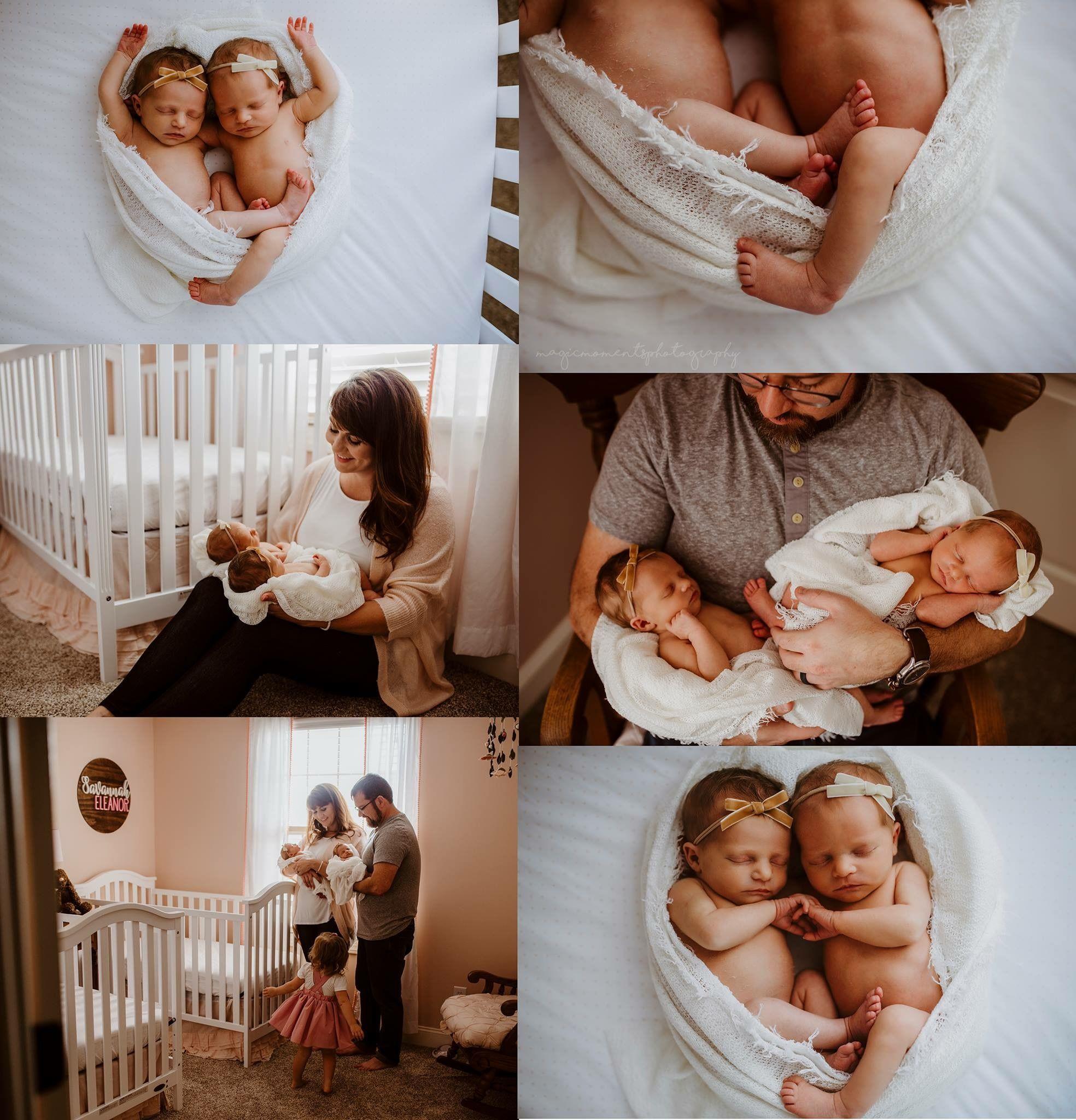 In home newborn session photography ideas twins twinning babies newborns girls family lifestyle photographer