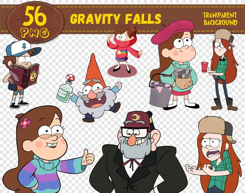 Gravity Falls Clipart Gravity Falls Characters Gravity Falls Etsy In 2021 Gravity Falls Characters Gravity Falls Alice In Wonderland Characters