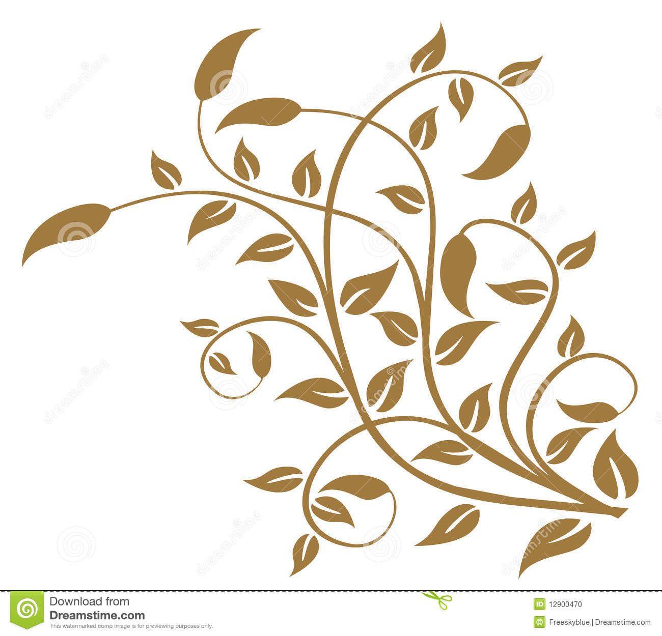 Leaves And Vines Pattern Vine Drawing Leaf Stencil Plant Pattern