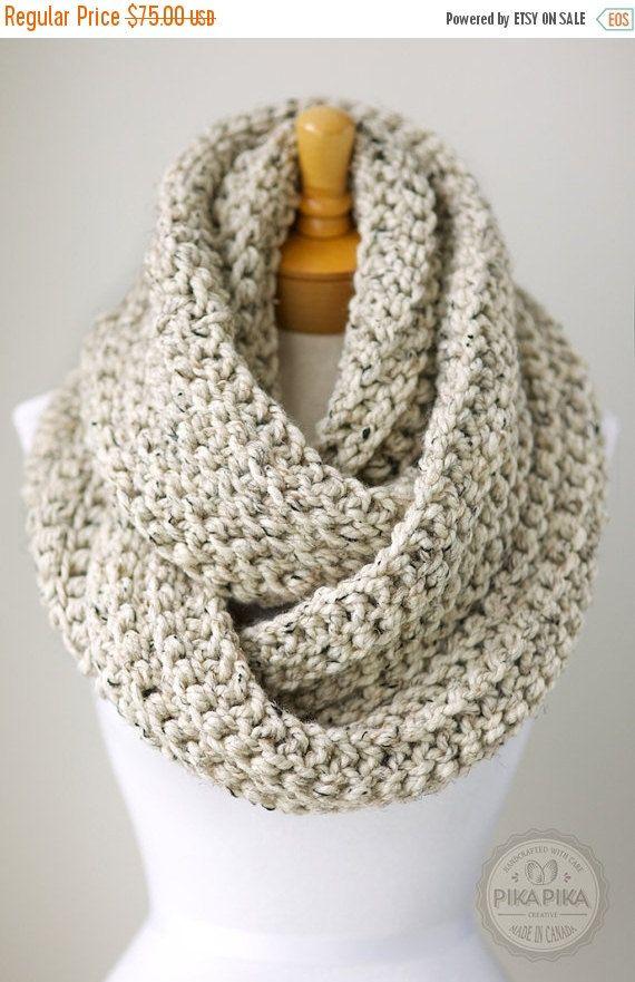 Autumn Sale Oversized Infinity Scarf Chunky Crochet Scarf