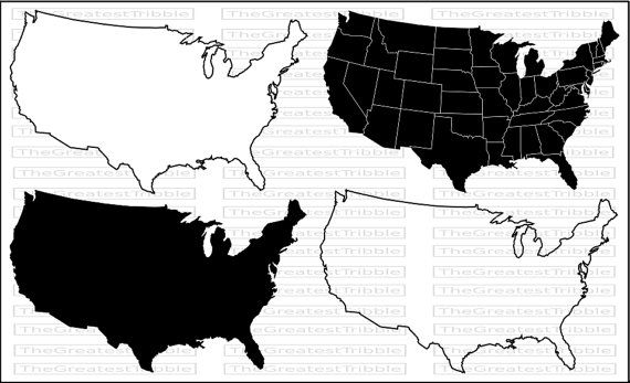 US States Map Svg Png Jpg Vector Graphic By TheGreatestTribble - Outline of us map svg