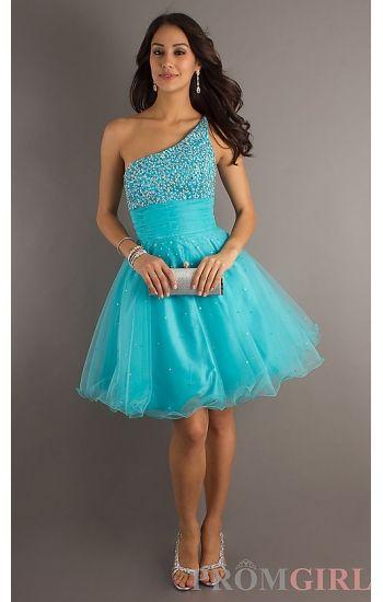 turquoise short semi formal bridesmaid dresses | ... short prom ...
