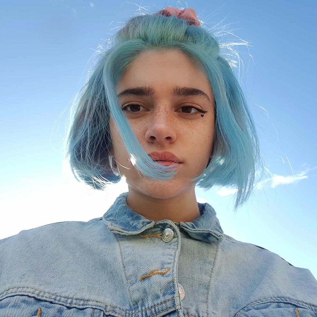 Themissrockstar Artsy Grungeaesthetic 90sstyle In 2020 Bright Blue Hair Dyed Hair Blue Arctic Fox Hair Color