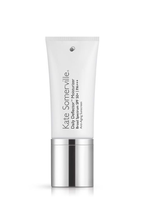 This ray-deflecting sunblock boasts one of the highest SPFs of any moisturizer, so it's especially good for sensitive skin that burns easily. Its aloe vera extract soothes skin and itsanti-aging ingredients smooth over fine lines while brighteningskin tone.  $48; sephora.com.