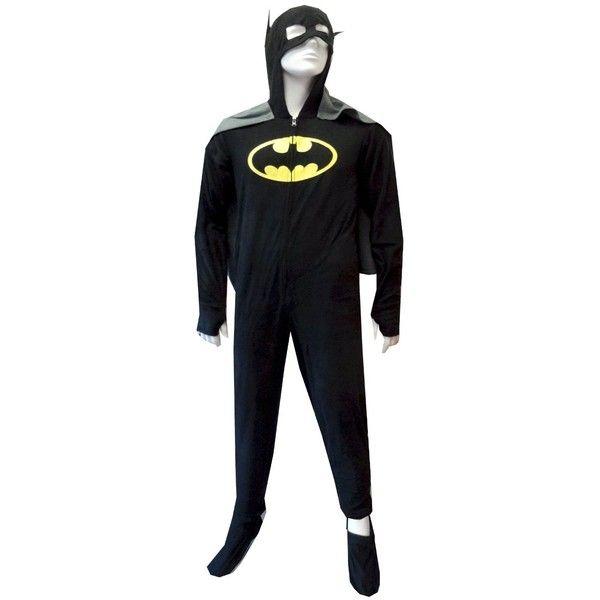 Batman BatGirl Hooded Fleece Onesie Footie Pajama with Cape ( 44) ❤ liked  on Polyvore b961780f2970