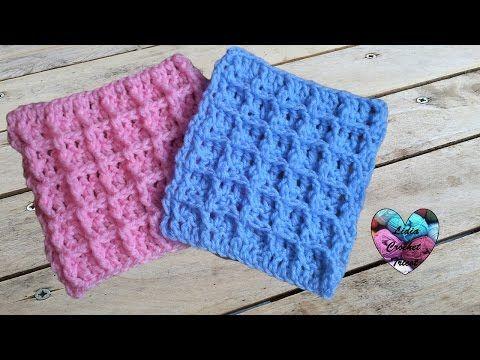 Crochet Point waffle - YouTube | Crochet | Pinterest | Patrones y Tejido