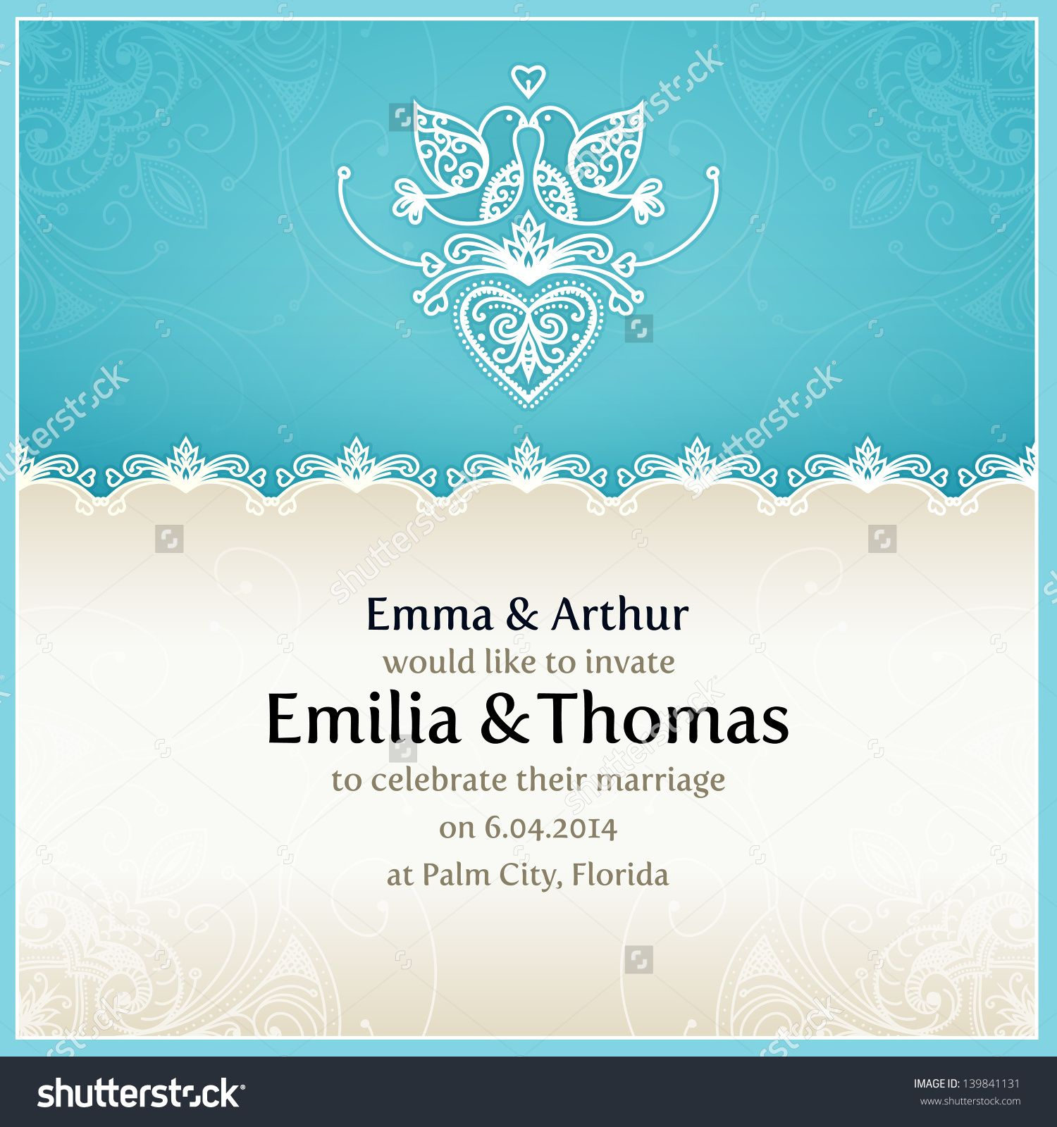 Perfect Wedding Invitation Design Template Embellishment