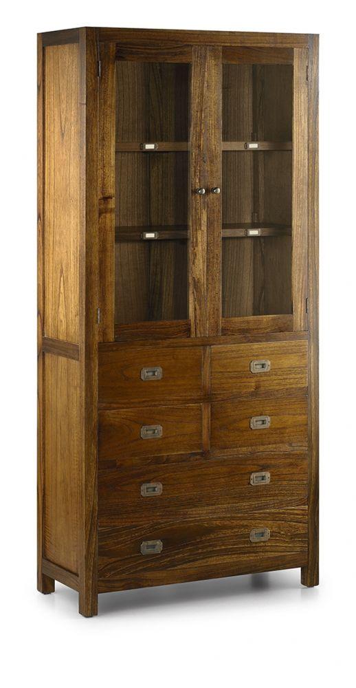Ce bahut vitré est fabriqué à partir d\'un bois exotique d ...