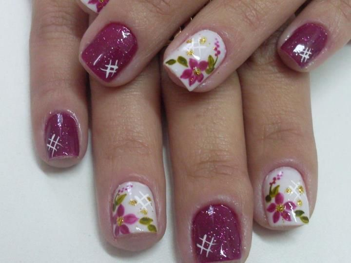 by Lu Arcanjo | unas | Pinterest | Flores sencillas, Muy bonita y ...