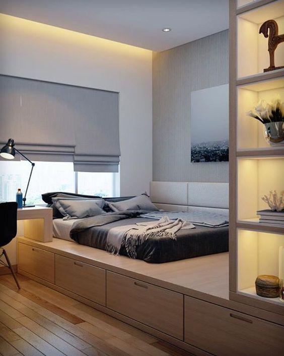 fd994408cec3 Понравилась идея расположения кровати и хранение под кроватью · LustreNápady  Do SpálneBytyChlapčenské IzbyModerné SpálneKancelárieDetská ...