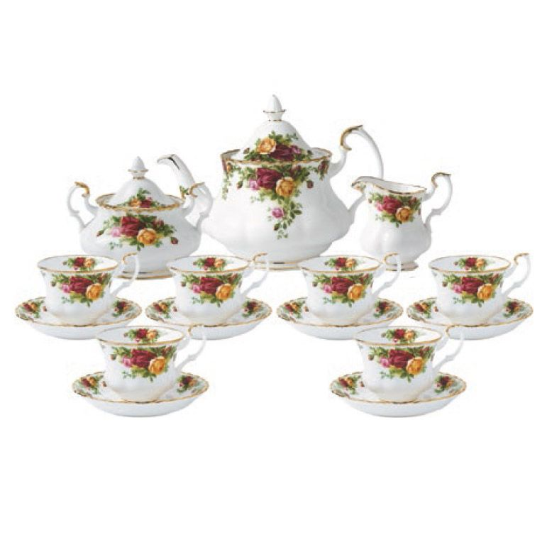 Royal Albert Old Country Roses 15 Piece Teaset Tea Set Bone China Tea Set Country Roses