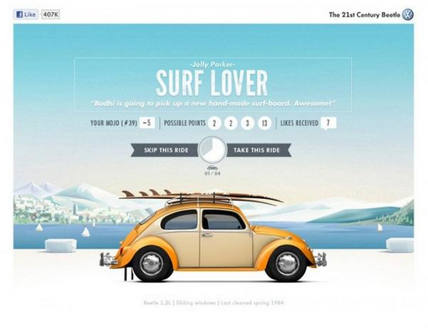 Lovely Volkswagen Beetle Illustration For Web Web Design Inspiration Web Graphic Design Web Development Design
