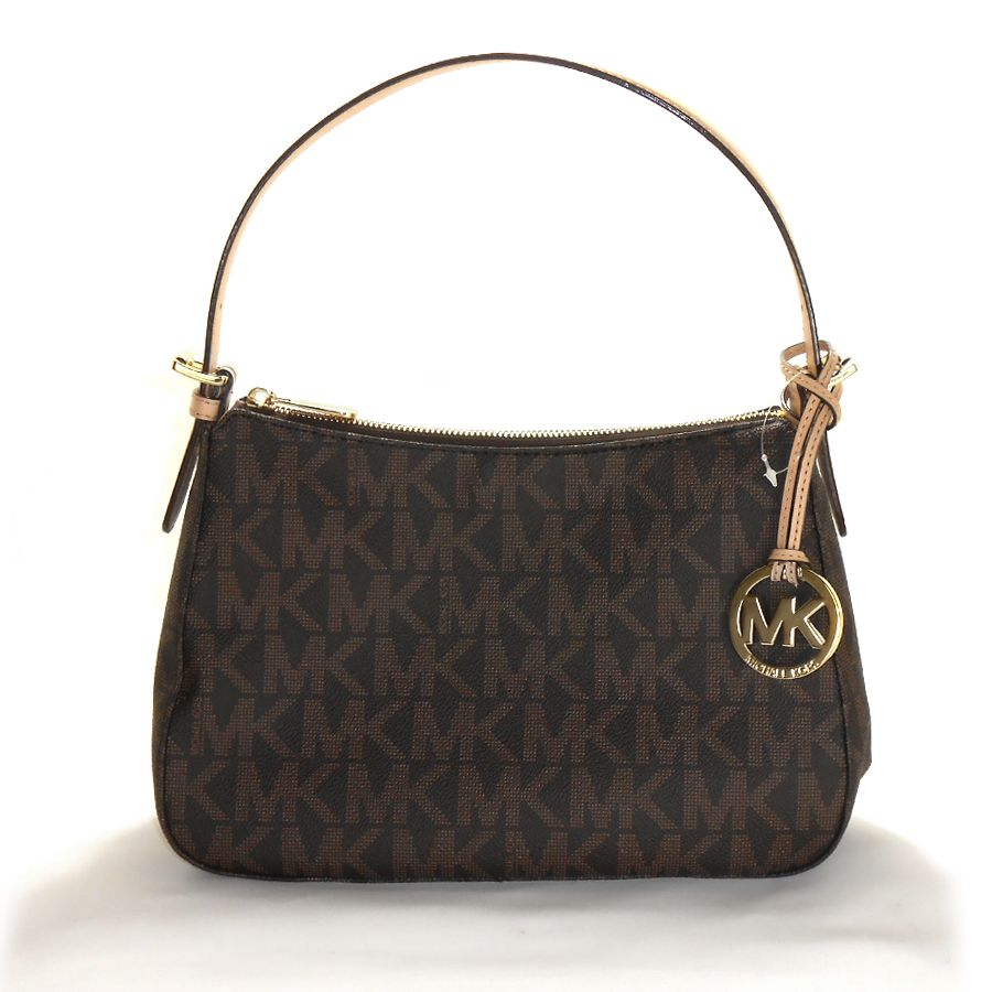 Bolsa Estilo Satchel : Michael kors jet set item pvc small shoulder bag brown