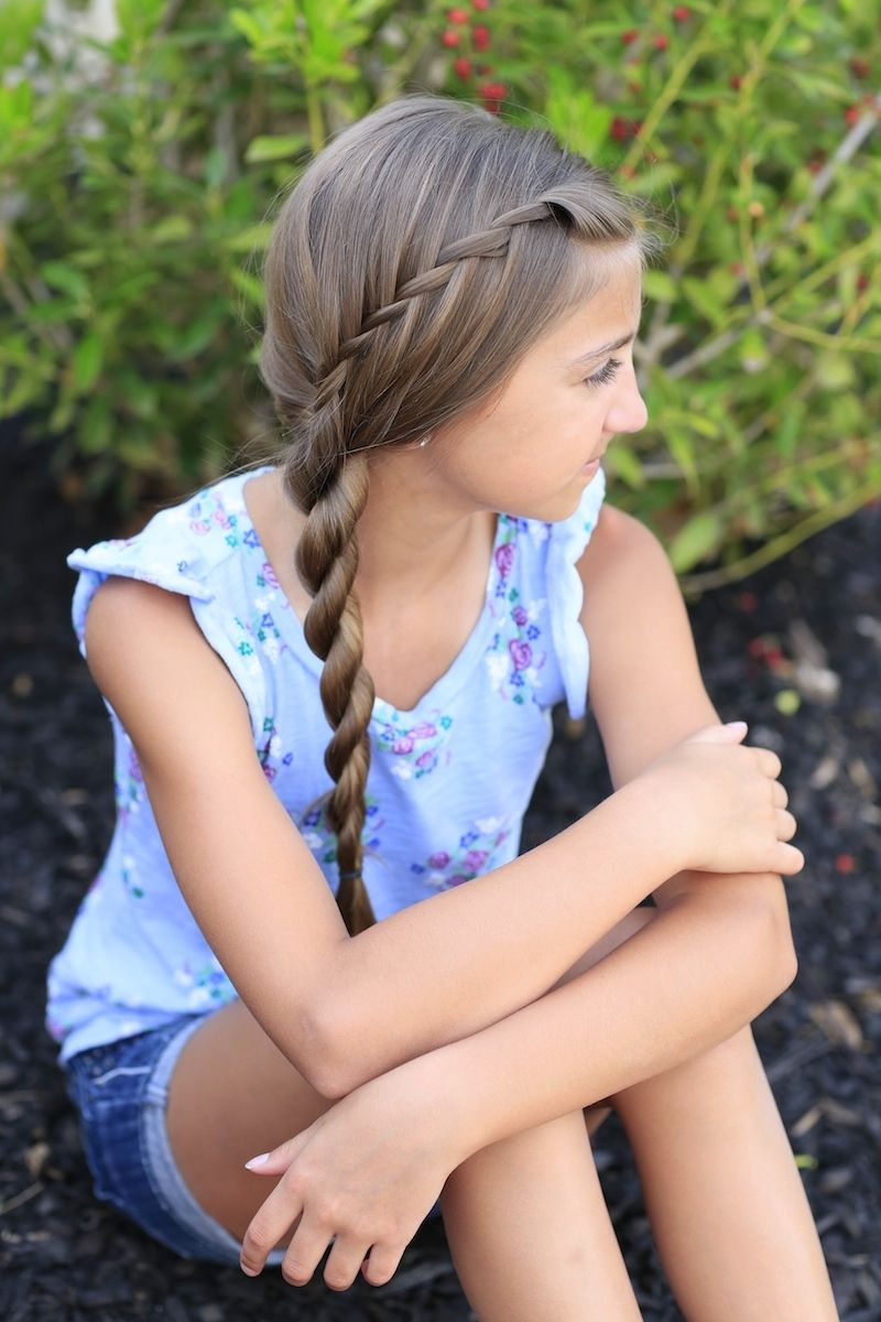Waterfall twist into rope braid and more hairstyles from