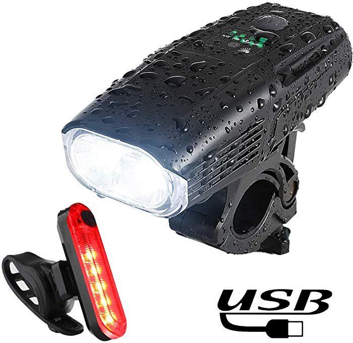 Yosky Usb Rechargeable Bike Light Set 1000 Lumens Smart Led