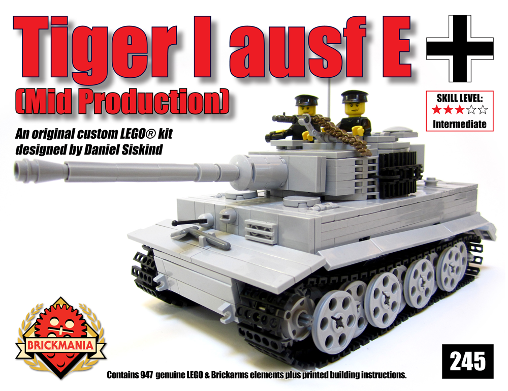Tiger I Ausf E Mid Production (Gray) - Standard Edition - Brickmania
