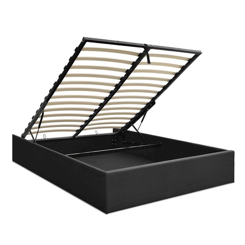 Queen Size Gas Lift Bed Frame Base With Storage Platform Fabric Lift Storage Bed Bed Frame Bed Frame With Storage
