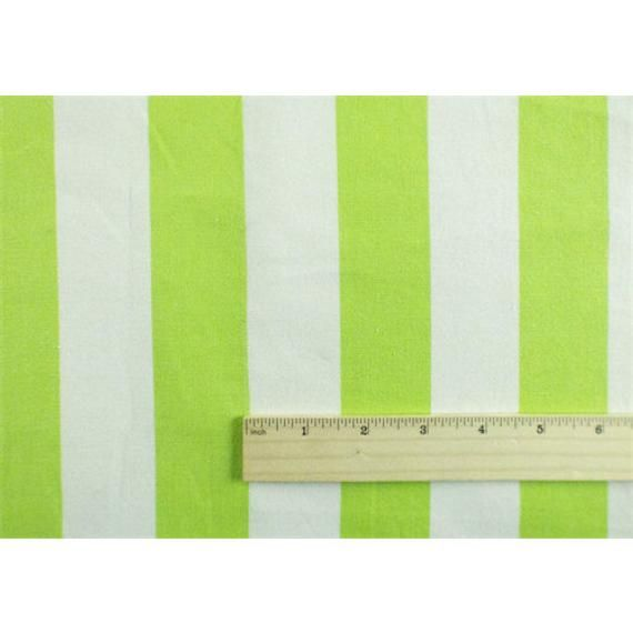 Lime Green/White Cotton Stripe Home Decorating Fabric ...